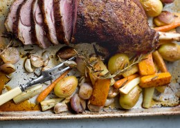 barbequed leg of lamb